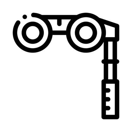 Binoculars Icon Vector. Outline Binoculars Sign. Isolated Contour Symbol Illustration