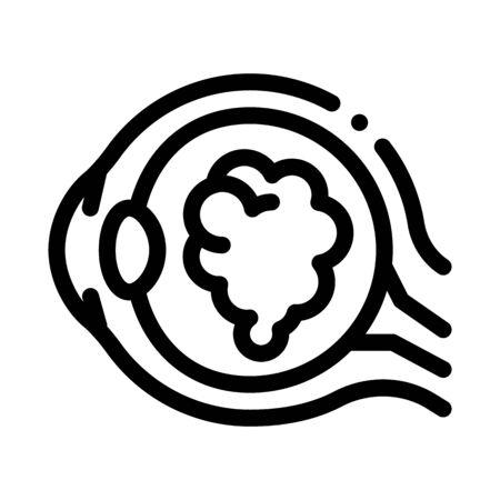 Cataract Eyes Icon Vector. Outline Cataract Eyes Sign. Isolated Contour Symbol Illustration Ilustracja