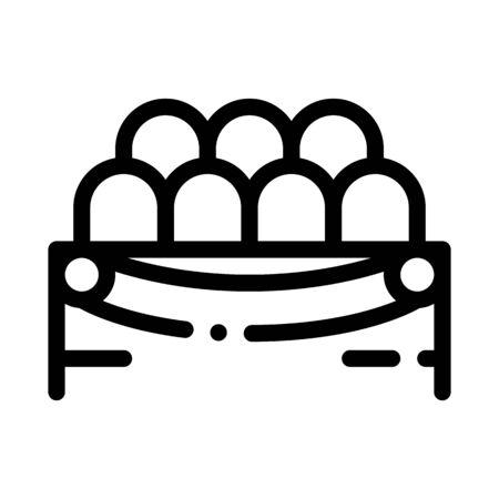 Lodge Spectators Icon Vector. Outline Lodge Spectators Sign. Isolated Contour Symbol Illustration