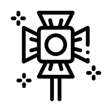 Spotlight Lamp Icon Vector. Outline Spotlight Lamp Sign. Isolated Contour Symbol Illustration