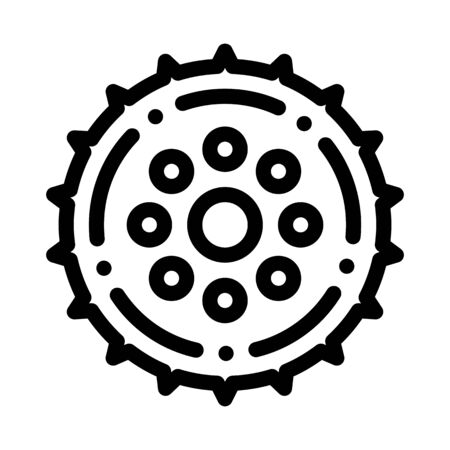 Bicycle Connecting Rod Icon Vector. Outline Bicycle Connecting Rod Sign. Isolated Contour Symbol Illustration