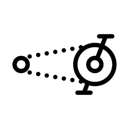 Pedal Bike Chain Icon Vector. Outline Pedal Bike Chain Sign. Isolated Contour Symbol Illustration Çizim