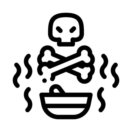 Deadly Poison Icon Vector. Outline Deadly Poison Sign. Isolated Contour Symbol Illustration