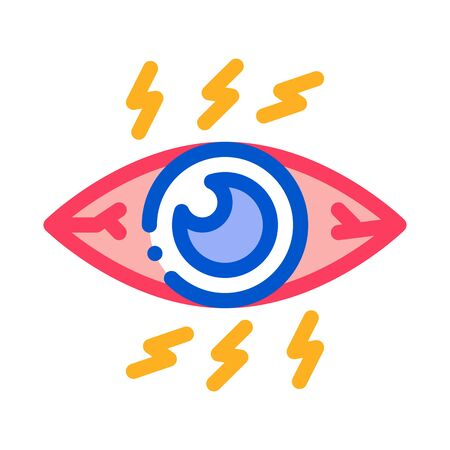 Strong Eye Pressure Icon Vector. Outline Strong Eye Pressure Sign. Isolated Contour Symbol Illustration