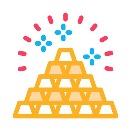 Sacred Pyramid Icon Vector. Outline Sacred Pyramid Sign. Isolated Contour Symbol Illustration