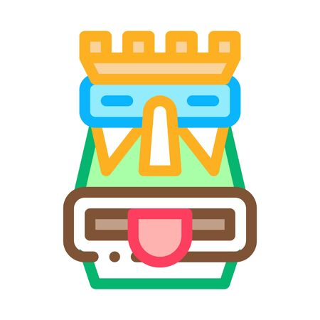 Aztec Totem Icon Vector. Outline Aztec Totem Sign. Isolated Contour Symbol Illustration