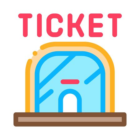 Ticket Casa Icon Vector. Outline Ticket Casa Sign. Isolated Contour Symbol Illustration