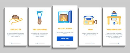 Pottery And Ceramics Onboarding Mobile App Page Screen Vector. Pottery Equipment And Kiln, Potter And Spatula, Vase And Plate, Paint And Roasting Color Contour Illustrations