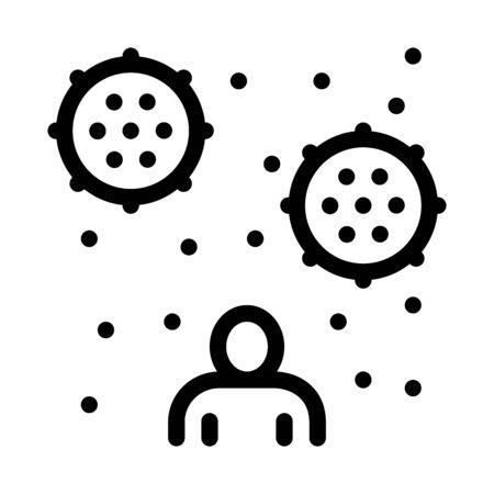 human blood plasma icon vector. human blood plasma sign. isolated contour symbol illustration