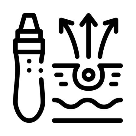 roller against acne icon vector. roller against acne sign. isolated contour symbol illustration Vecteurs