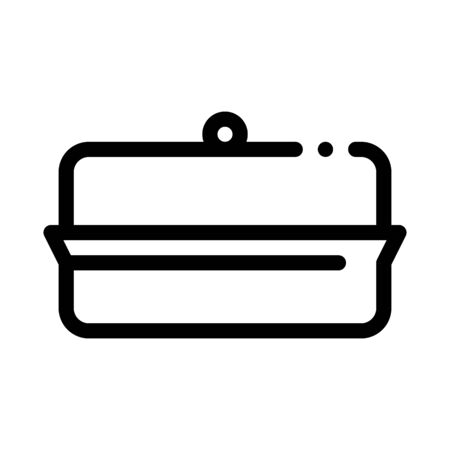 butter dish icon vector. butter dish sign. isolated contour symbol illustration
