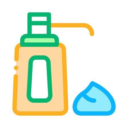 cream bottle icon vector. cream bottle sign. color contour symbol illustration