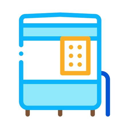 closed oven with timer icon vector. closed oven with timer sign. color contour symbol illustration 矢量图像
