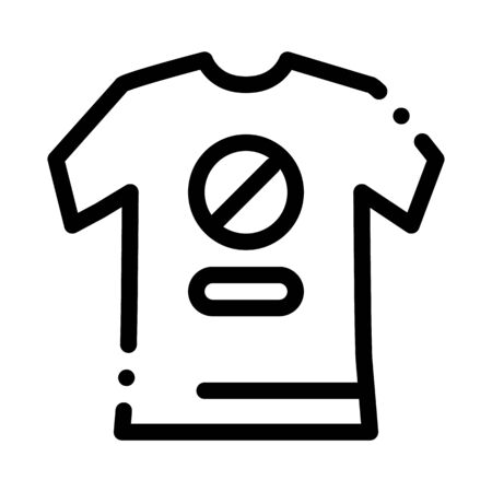 t-shirt protest icon vector. t-shirt protest sign. isolated contour symbol illustration