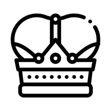 royal crown icon vector. royal crown sign. isolated contour symbol illustration Illustration
