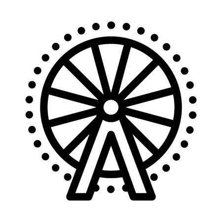 ferris wheel icon vector. ferris wheel sign. isolated contour symbol illustration