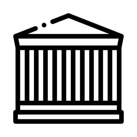 greek columns building icon vector. greek columns building sign. isolated contour symbol illustration Ilustração