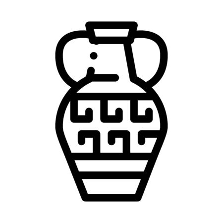 greek ornamental vase icon vector. greek ornamental vase sign. isolated contour symbol illustration Ilustração