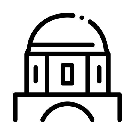 classical greek building dome icon vector. classical greek building dome sign. isolated contour symbol illustration