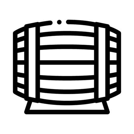 wooden barrel for wine products icon vector. wooden barrel for wine products sign. isolated contour symbol illustration Illustration