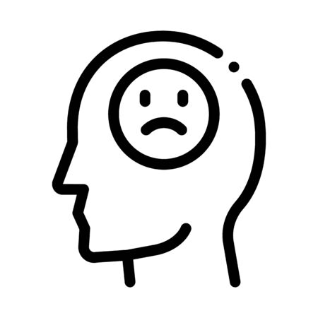 pessimistic person icon vector. pessimistic person sign. isolated contour symbol illustration
