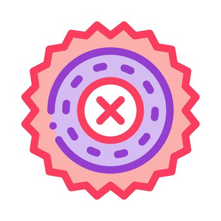 prohibition of proceedings icon vector. prohibition of proceedings sign. color symbol illustration Illusztráció