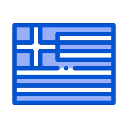 flag of greece icon vector. flag of greece sign. color symbol illustration
