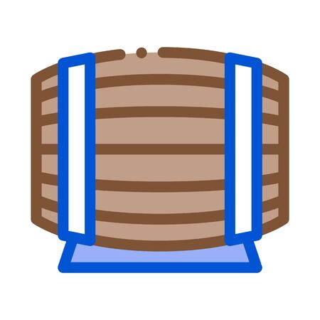 wooden barrel for wine products icon vector. wooden barrel for wine products sign. color symbol illustration Ilustração