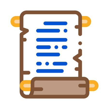 scroll of parchment paper icon vector. scroll of parchment paper sign. color symbol illustration Ilustração