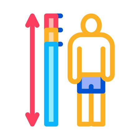 human height measurement icon vector. human height measurement sign. color symbol illustration