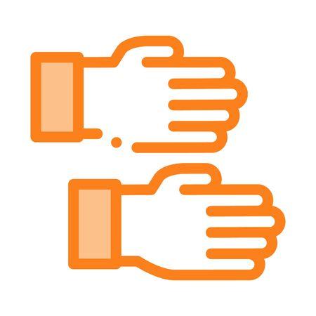 work gloves icon vector. work gloves sign. color symbol illustration
