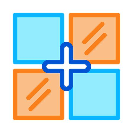 laying tiles of different colors icon vector. laying tiles of different colors sign. color symbol illustration