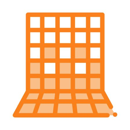 laying square tiles all over wall icon vector. laying square tiles all over wall sign. color symbol illustration Illustration