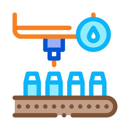 bottle filling device icon vector. bottle filling device sign. color symbol illustration Vektoros illusztráció