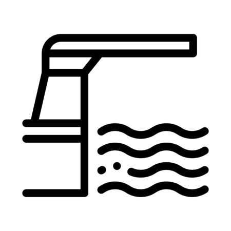 water level meter icon vector. water level meter sign. isolated contour symbol illustration Illustration