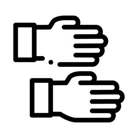 work gloves icon vector. work gloves sign. isolated contour symbol illustration