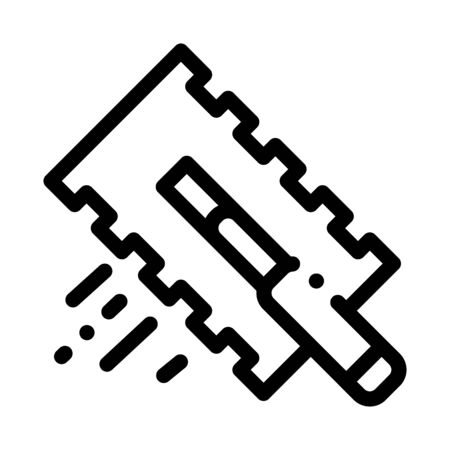 tile scraper icon vector. tile scraper sign. isolated contour symbol illustration Vetores
