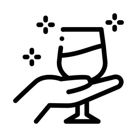 wine testing icon vector. wine testing sign. isolated contour symbol illustration Ilustração Vetorial
