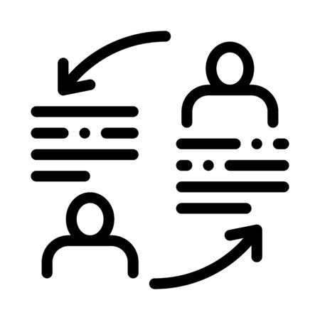 knowledge sharing icon vector. knowledge sharing sign. isolated contour symbol illustration