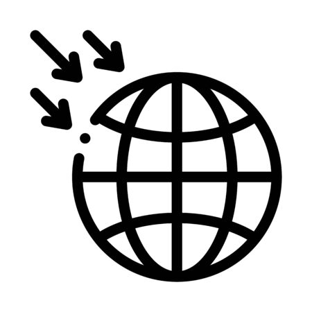 atmospheric pressure of planet icon vector. atmospheric pressure of planet sign. isolated contour symbol illustration