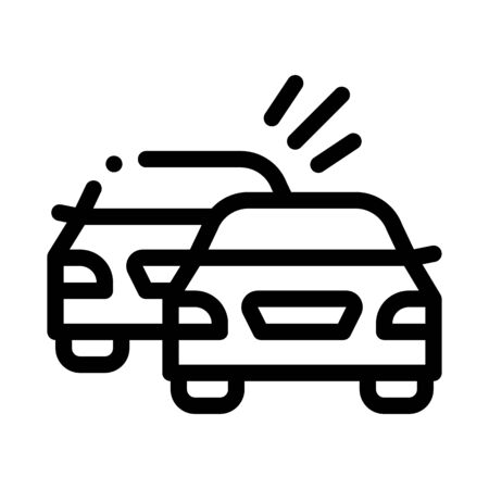 overtaking previous car icon vector. overtaking previous car sign. isolated contour symbol illustration