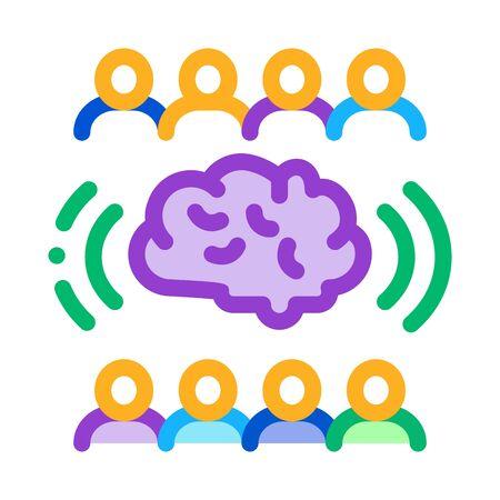 collective mind icon vector. collective mind sign. color symbol illustration Vektorové ilustrace