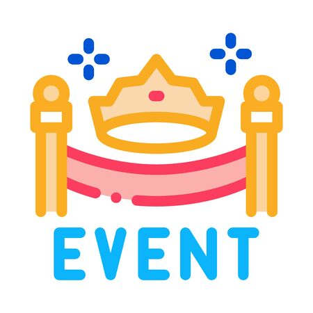 solemn presentation event icon vector. solemn presentation event sign. color symbol illustration 矢量图像