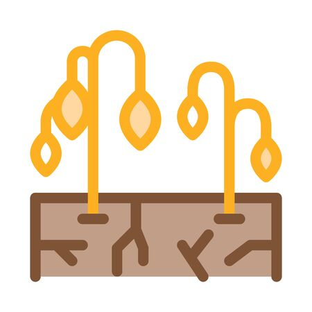 dry soil for plants icon vector. dry soil for plants sign. color symbol illustration
