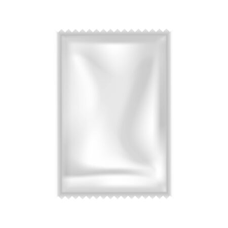 Shampoo, Conditioner Or Gel Sachet Packet Vector. Blank Clear Airtight Small Bag Packet For Hygiene Creamy Liquid. Cosmetic Cream Package For Body Skincare Layout Realistic 3d Illustration 일러스트