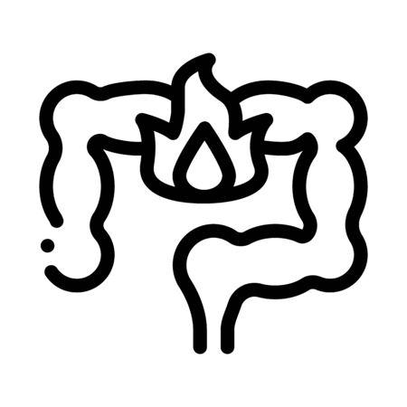 heartburn stomach icon vector. heartburn stomach sign. isolated contour symbol illustration