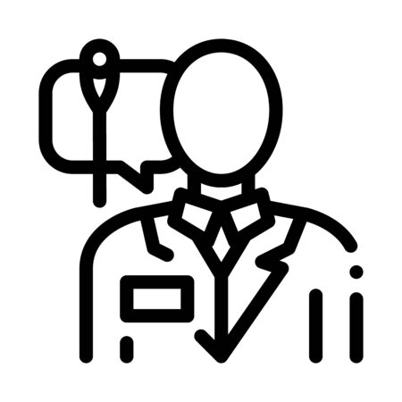 doctor acupuncture specialist icon vector. doctor acupuncture specialist sign. isolated contour symbol illustration Illustration