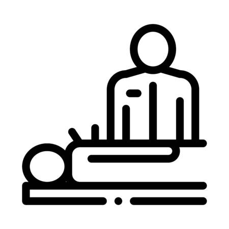 human acupuncture and doctor icon vector. human acupuncture and doctor sign. isolated contour symbol illustration Illustration