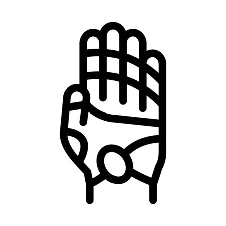 areas of action on arm icon vector. areas of action on arm sign. isolated contour symbol illustration
