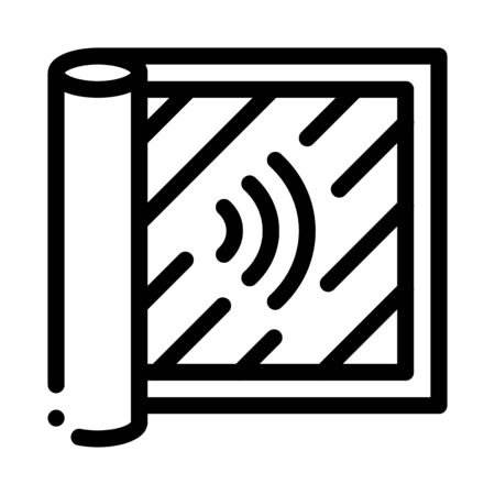 degree of audibility icon vector. degree of audibility sign. isolated contour symbol illustration Stock Illustratie